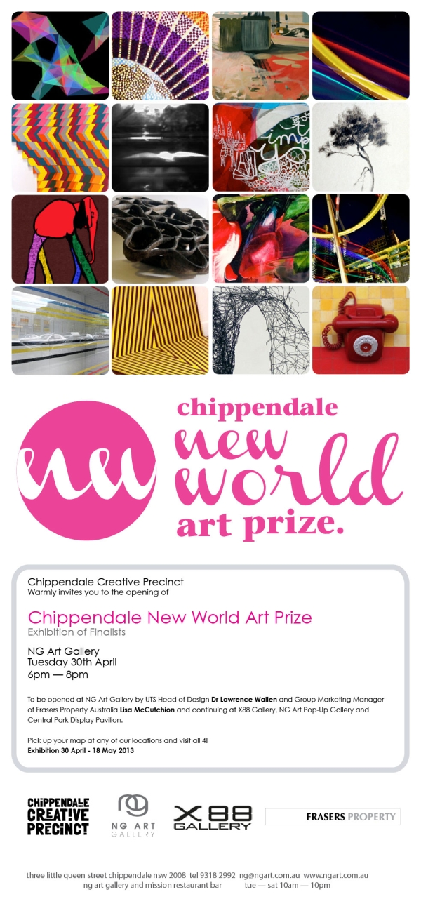 Chippendale New World Art Prize Invitation